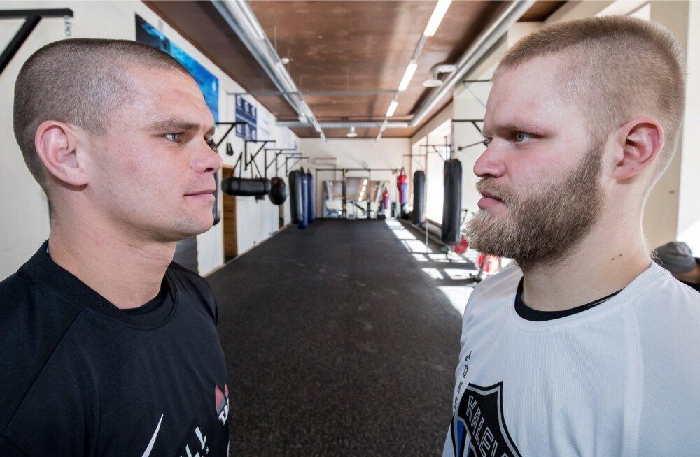 Eesti ühed nimekaimad võitlejad Mirkko Moisar ja Kaupo Arro ristavad poksiringis kindad.