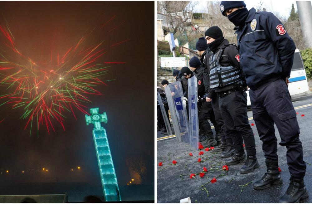 ГЛАВНОЕ ЗА ВЫХОДНЫЕ: Встреча Нового года, теракт в Стамбуле и ограбление ювелирного в Таллинне