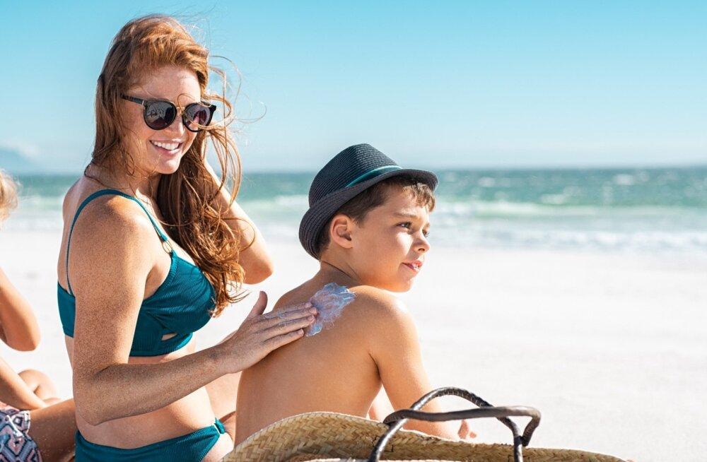 Laste nahk on päikesele tundlikum ning vajab kindlasti hoolikat päikesekaitset.
