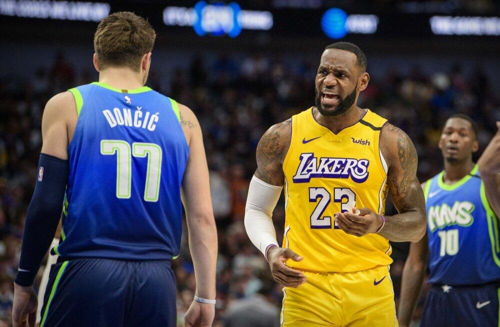 Luka Doncic ja LeBron James
