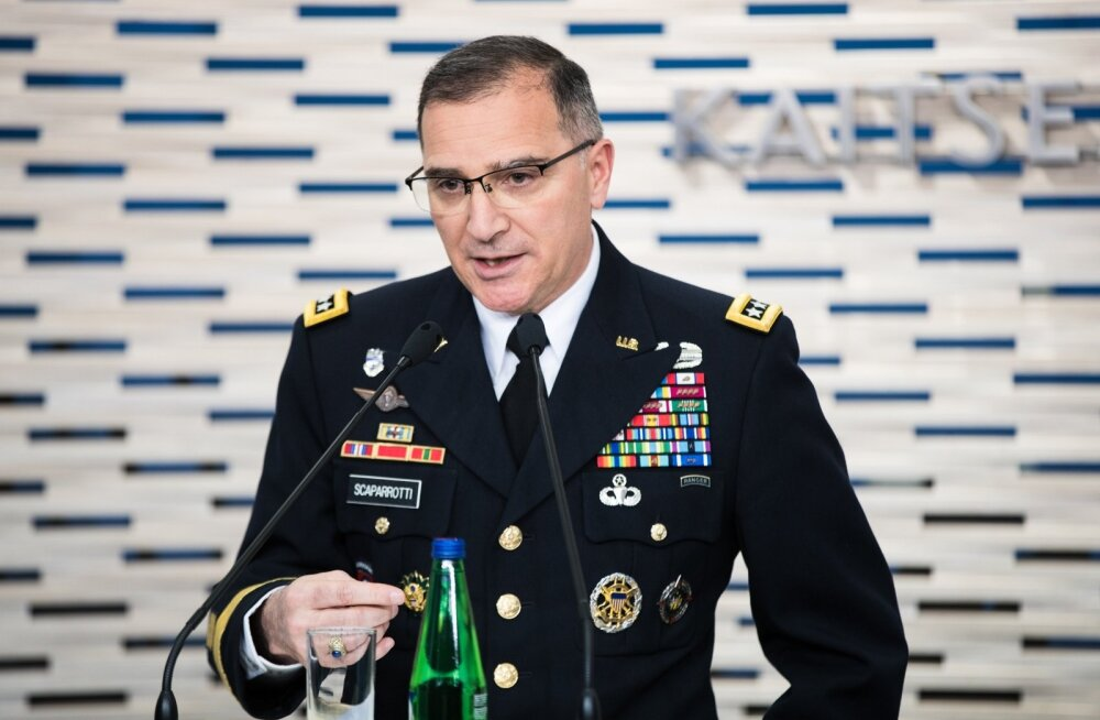 Kindral Curtis Scaparrotti ja kindral Riho Terrase pressikonverents
