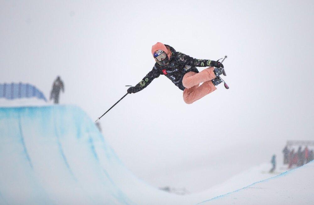 Kelly Sildaru rennisõit treening 4.02.2019