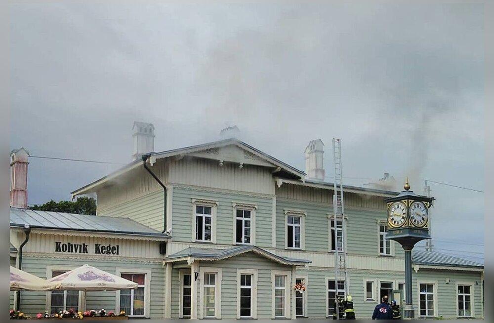 Keila raudteejaama kohvikus oli põleng