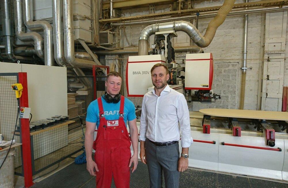 Plaat Detail pälvis Creditinfo eduka Eesti ettevõtte tunnustuse, juht Jaen Uussalu (paremal)