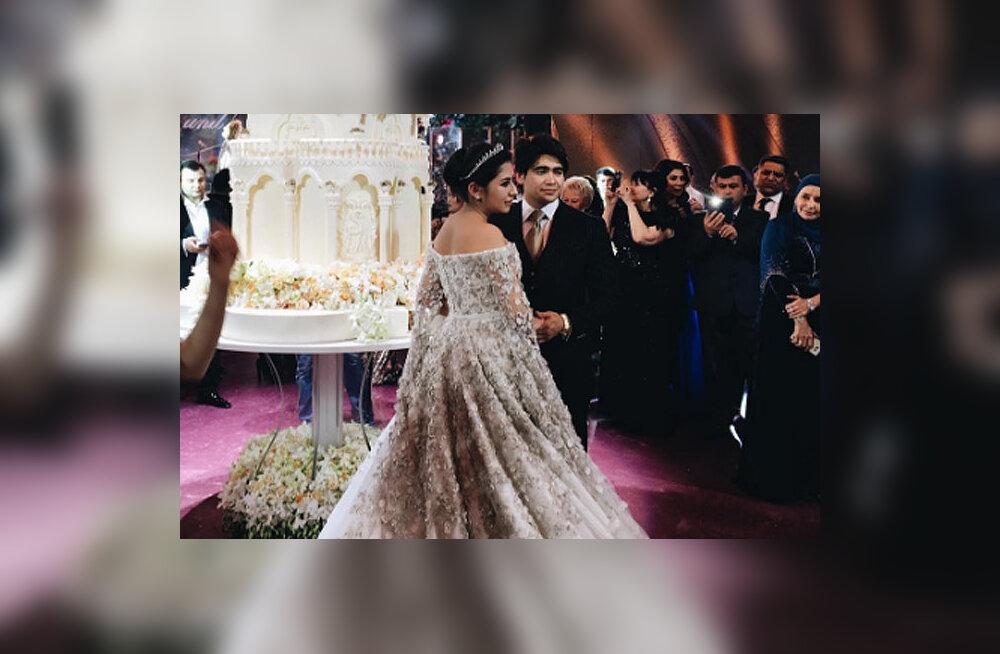 Дочь таджикского олигарха вышла замуж в платье за 40 миллионов рублей