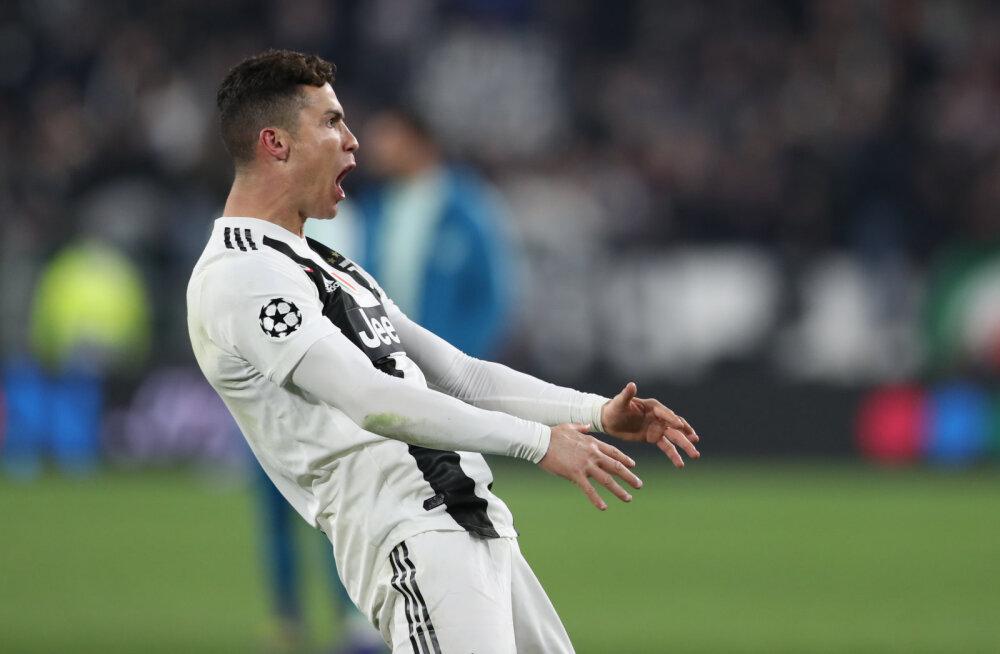 Cristiano Ronaldot ähvardab Meistrite liigas nilbe tähistuse eest mängukeeld
