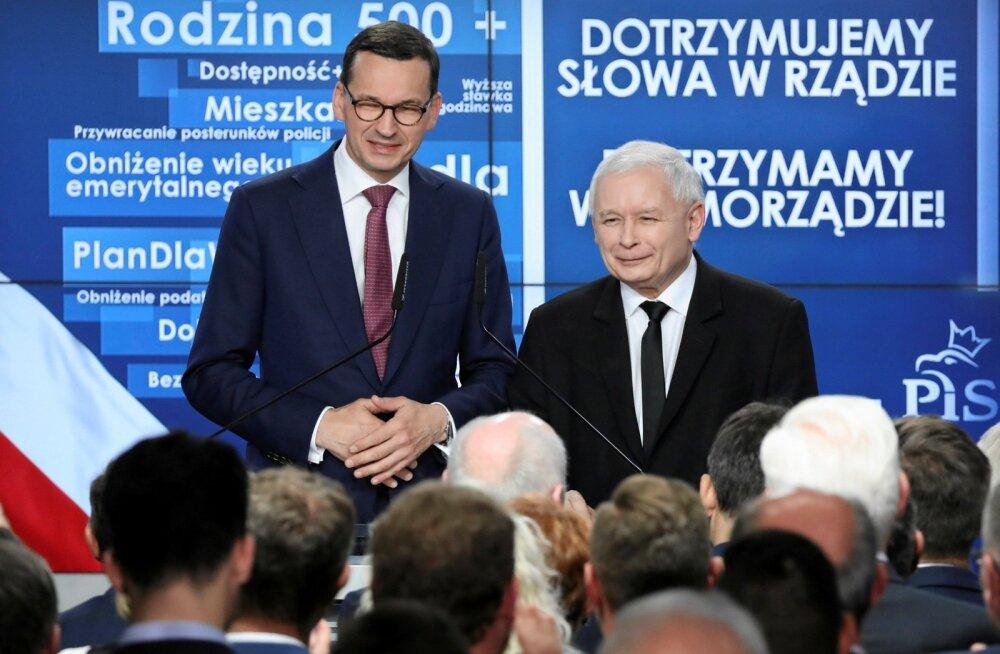 Poola valitsev konservatiivne erakond PiS võitis kohalikud valimised