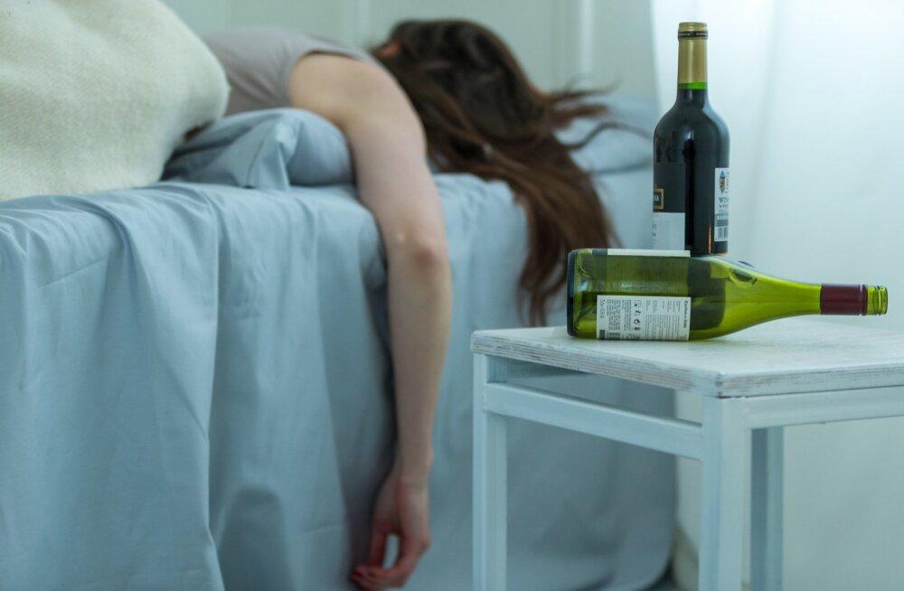 Haige või äkki hoopis eilse peo tagajärgi ravimas?