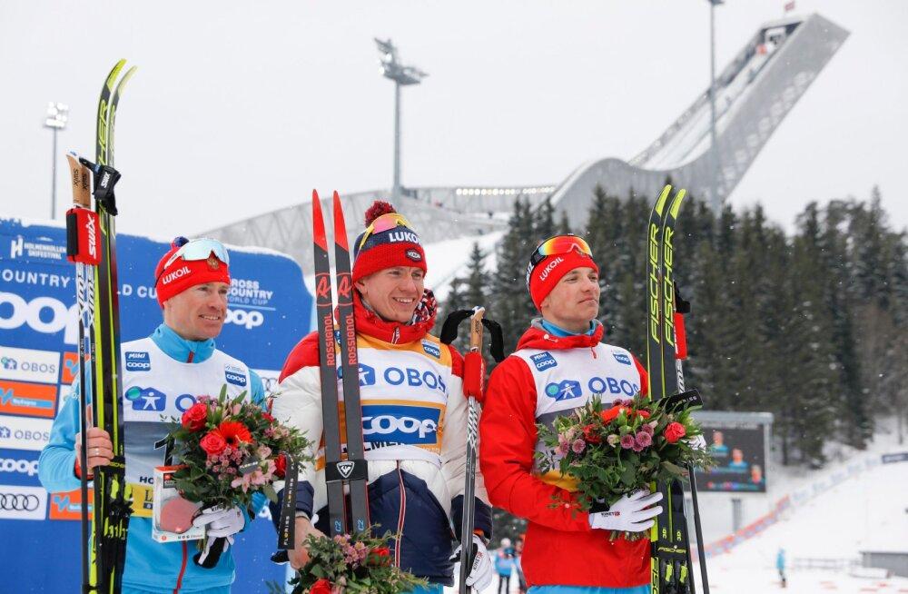 Holmenkolleni MK-etapi 50 km maratoni nelikvõit Venemaale, Niskanen alles 32.