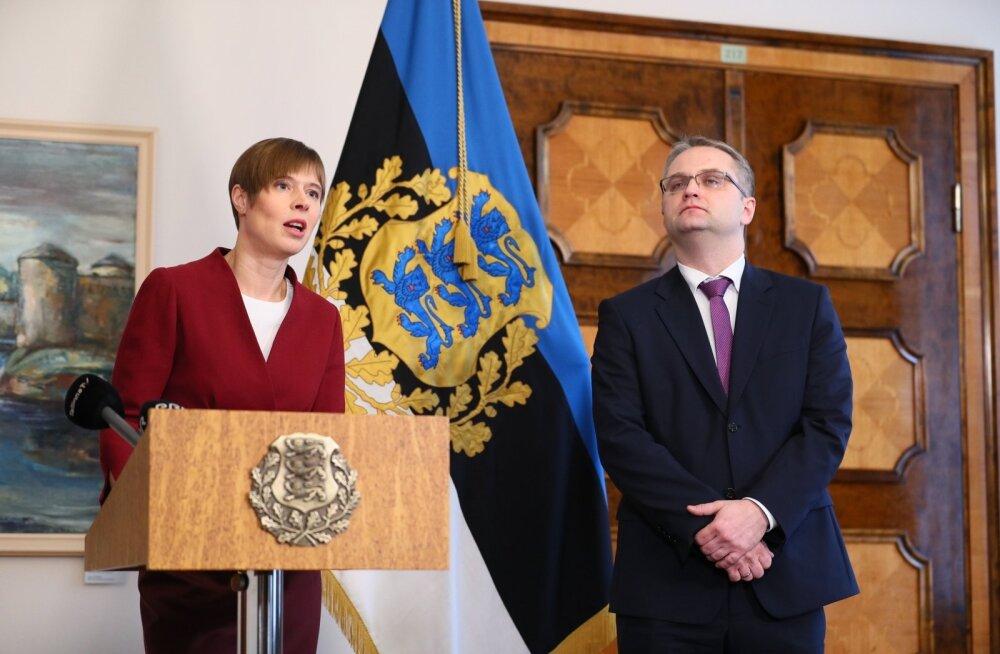 Kersti Kaljulaid ja Janar Holm