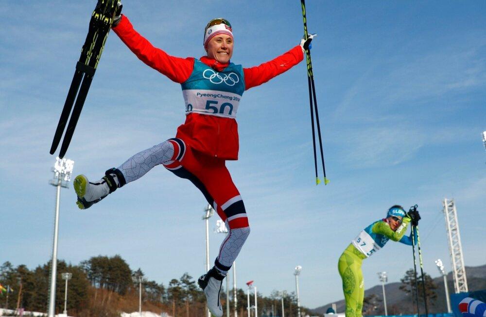 Naiste 10 km vabatehnikasõidus tõi Norrale kuldmedali Ragnhild Haga, kelle jaoks see oli elu esimene olümpiastart.