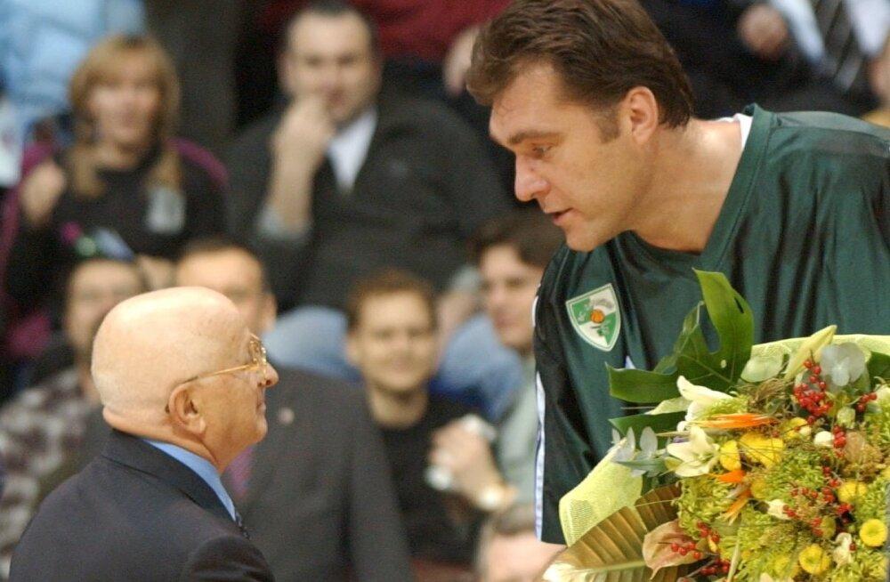 Alexander Gomelsky ja Arvydas Sabonis