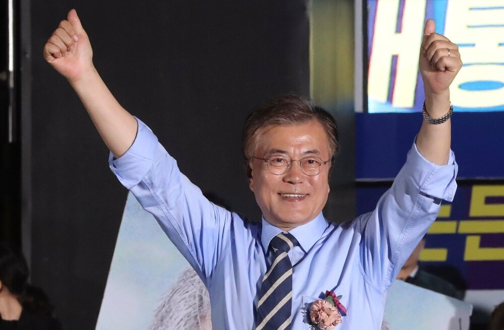 Lävepakuküsitluse järgi võitis Lõuna-Korea presidendivalimised Põhja-Koreasse leebemalt suhtuv Moon Jae-in