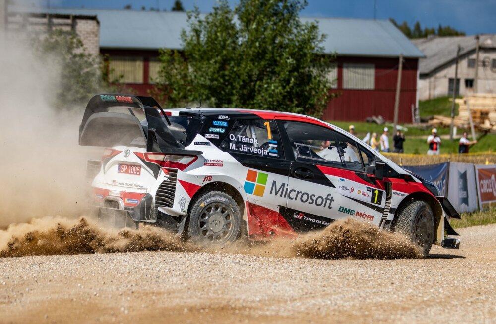 Mullu võistid Rally Estonia Toyota tiimis sõitnud Ott Tänak ja Martin Järveoja.