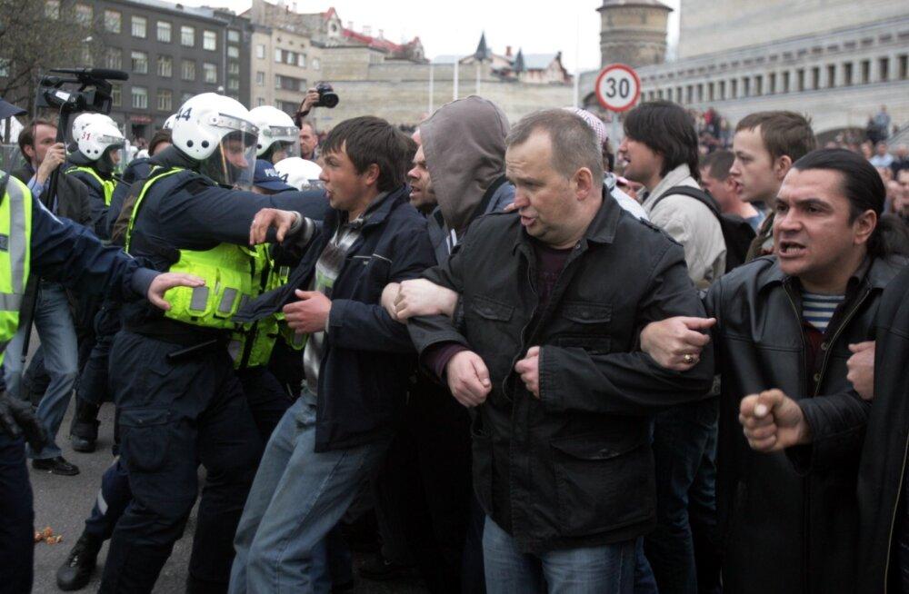 Pronksiöö rahutused 2007. aastal.