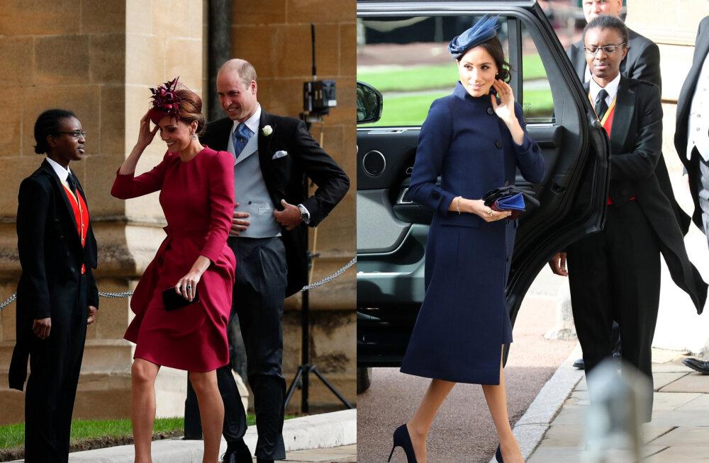 KUNINGLIK PULM | Vaata, mida kannavad printsess Eugenie pulmas Meghan Markle ja Kate Middleton