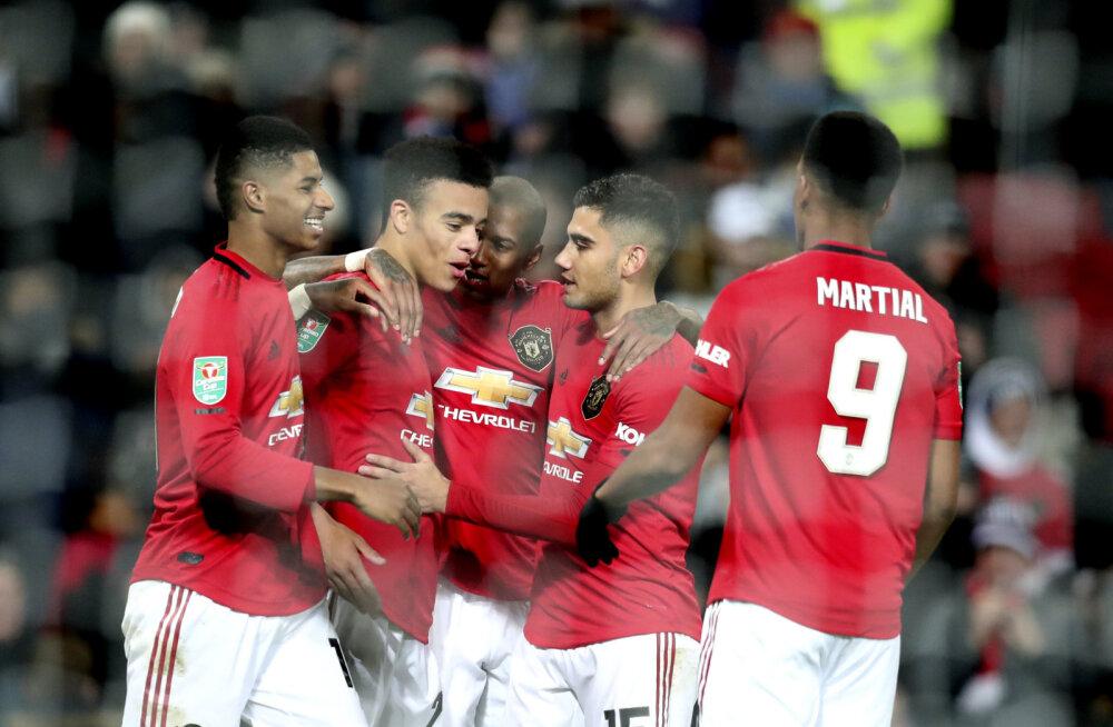 Manchester United ja Manchester City võtsid lõpuks kindla võidu, kaks suurt loositi omavahel kokku