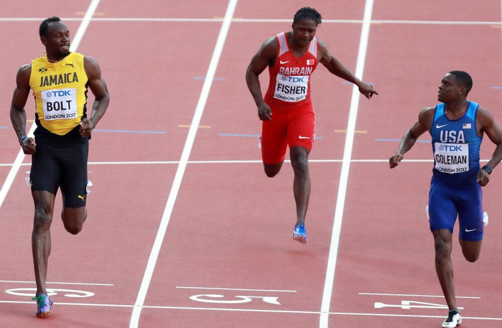 Kas saja meetri jooksus hõbemedali võitnud Colemanist saab Bolti mantlipärija?