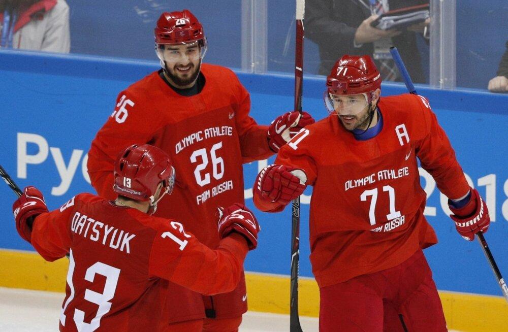 Viiendal olümpial mängiv Ilja Kovaltšuk (nr. 71)