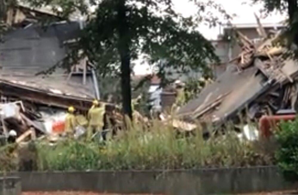 Belgias Antwerpenis hävitas plahvatus kolm maja