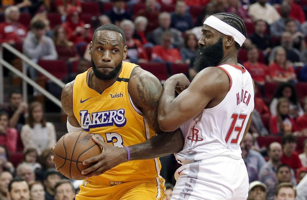 VIDEO | Superstaarist paariliseta mänginud LeBron James vedas Lakersi Hardeni ja Westbrooki vastu võidule