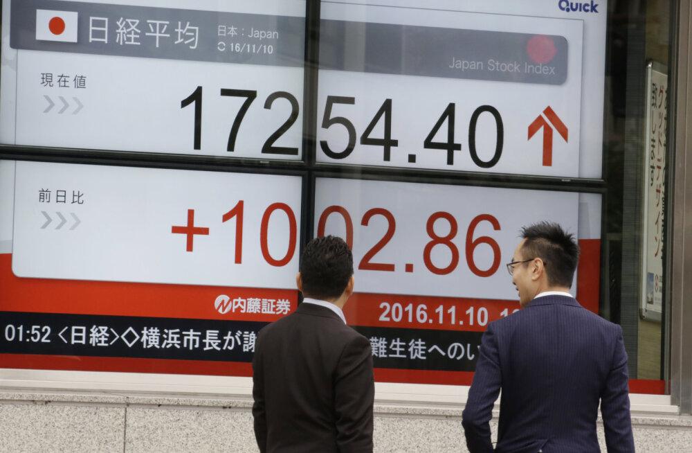 Trumpi šokist toibunud Aasia turud asusid tõusuteele