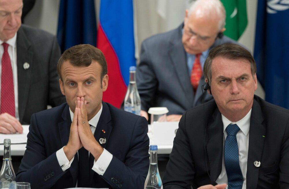 Macron nimetas Amazonase põlenguid rahvusvaheliseks kriisiks, Brasiilia president Bolsonaro süüdistas teda kolonialistlikus mõtteviisis