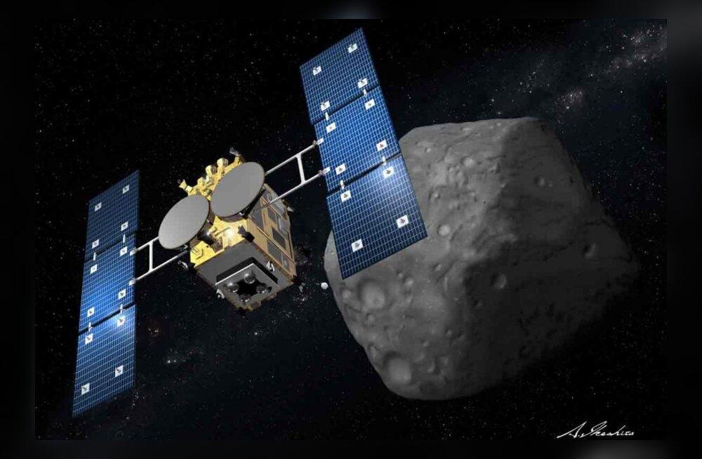 Kosmosesond lendab asteroidi kahurist tulistama