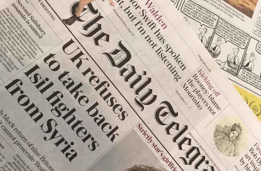 Suurbritannia suurimaid ajalehti The Telegraph maksustab veebis suurema osa poliitika, äri ja spordiuudiseid