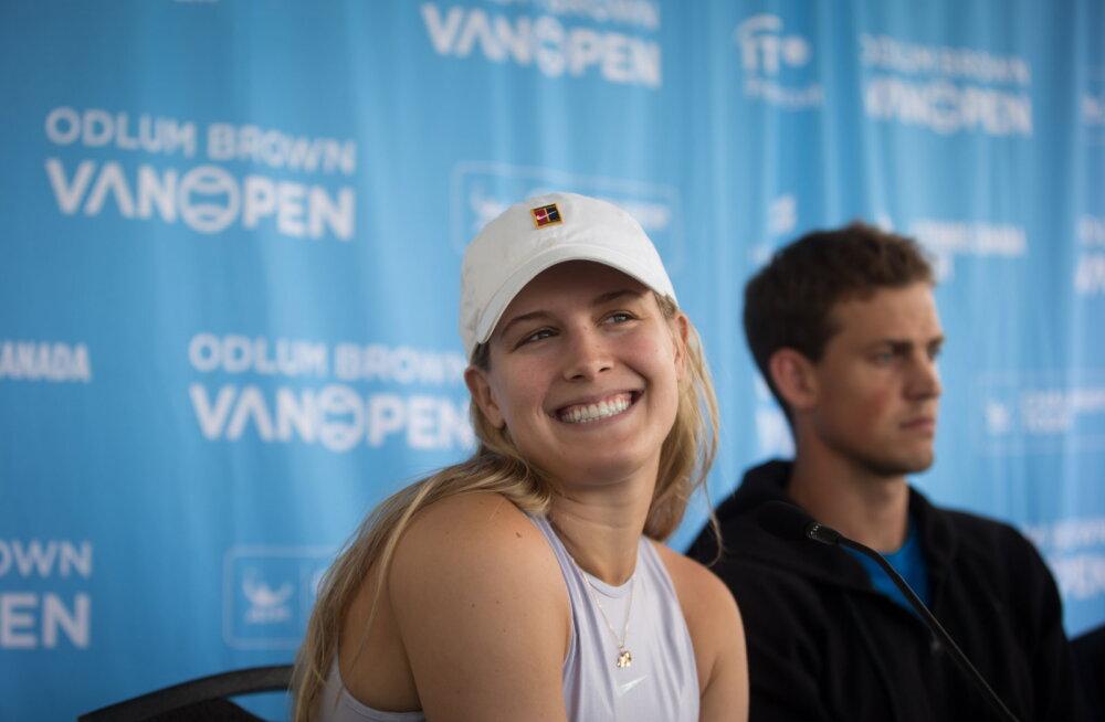 Kanada tennisestaari tabas ühe Twitteris õhku visatud lause pärast kohtingukutsete laviin