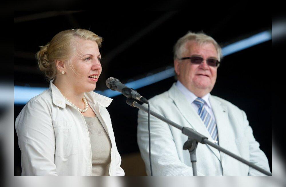 Põhja-Tallinna linnaosavanem Karin Tammemägi ja linnapea Edgar Savisaar