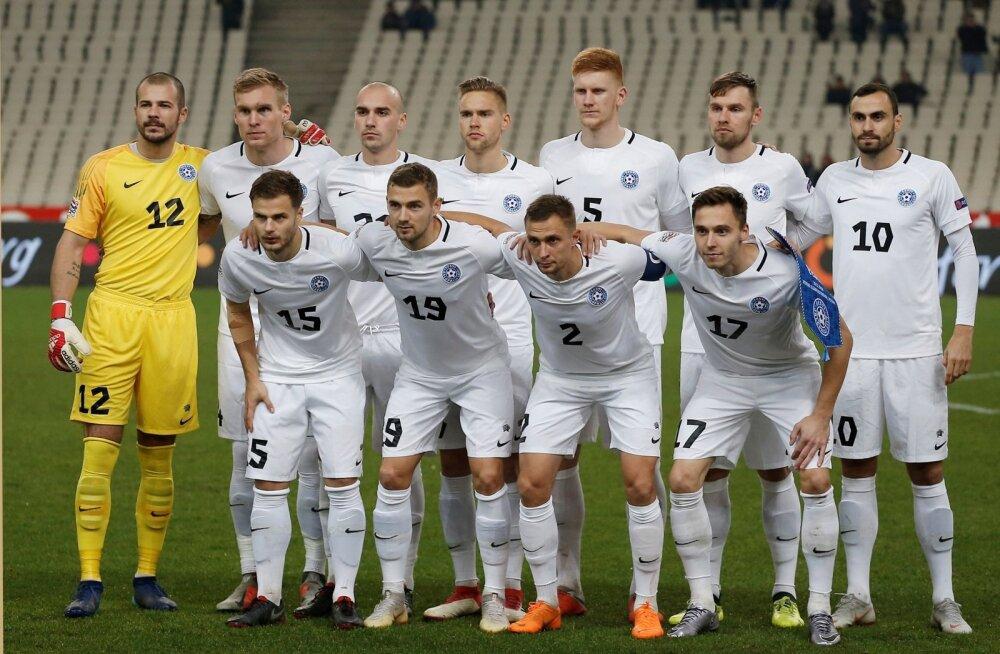 Eesti koondise algrivistus mängus Kreekaga
