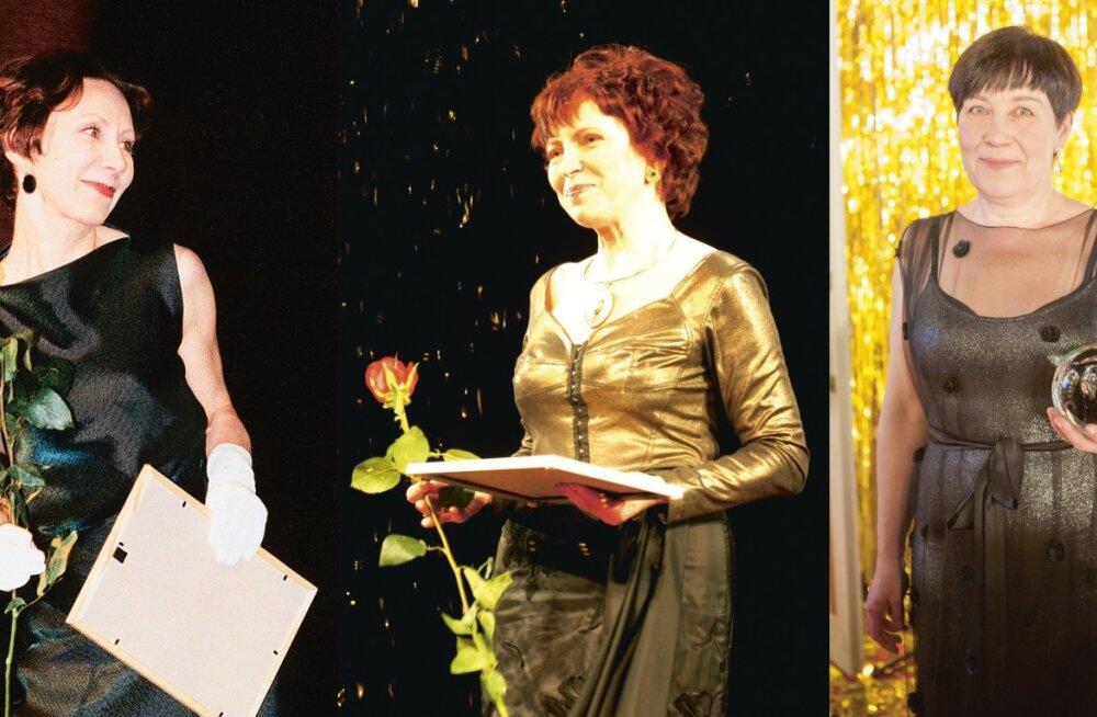 VÕIDUKAMAD NÄITLEJANNAD: Kersti Kreismann (keksel; seni ainus kolmekordne eesti teatri naispeaosa-oskari võitja!) ja Marika Vaarik (paremal) ning Anu Lamp (vasakul).