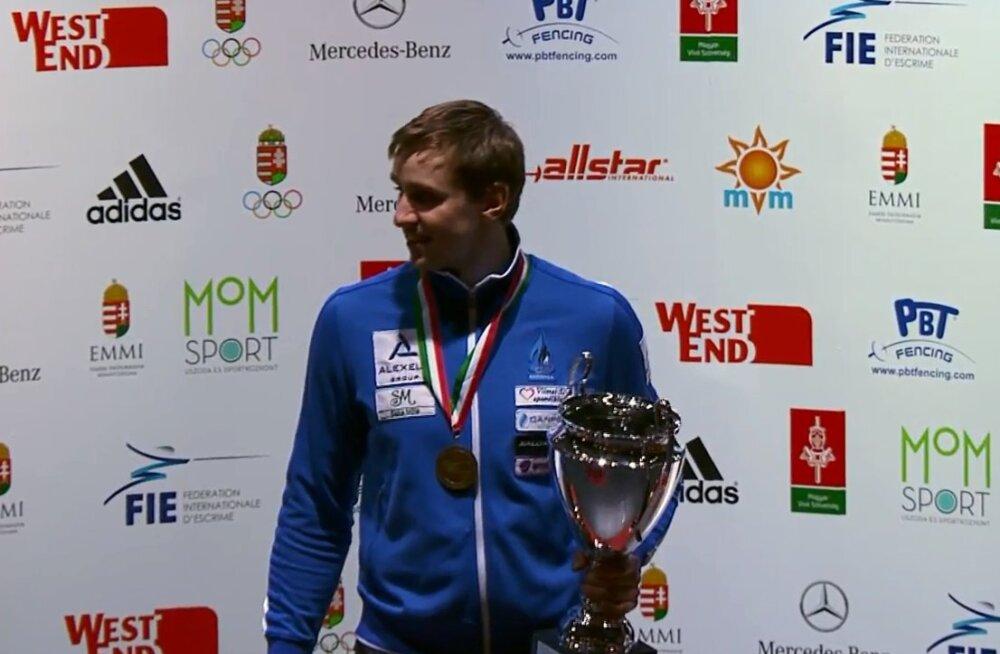Võimas! Nikolai Novosjolov võitis Budapesti MK-etapi