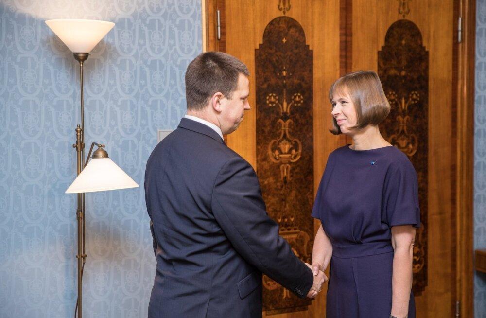 Jüri Ratas kohtus Kadriorus president Kersti Kaljulaidiga