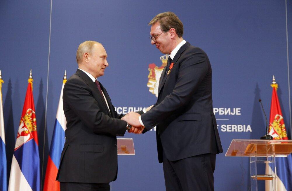 Putin ja Lavrov vabandasid Serbia presidendi ees Maria Zahharova solvava postituse pärast