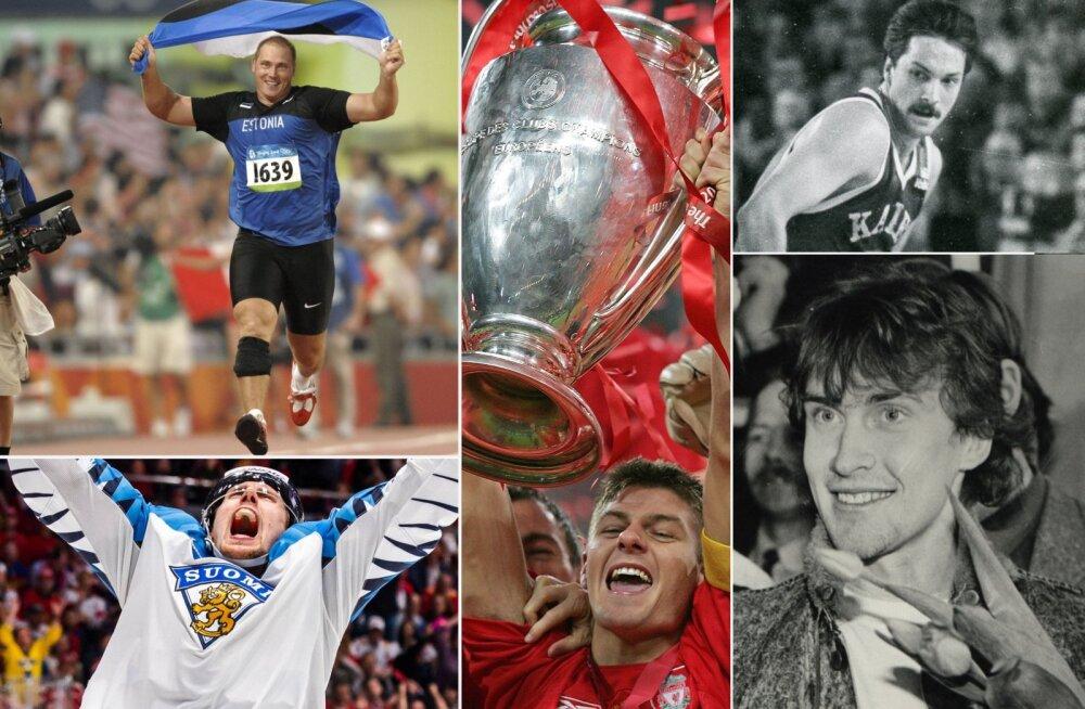 Gerd Kanter, Marko Anttila, Steven Gerrard, Tiit Sokk ja Allar Levandi