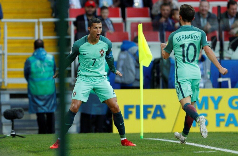 Cristiano Ronaldo ja Bernardo Silva.