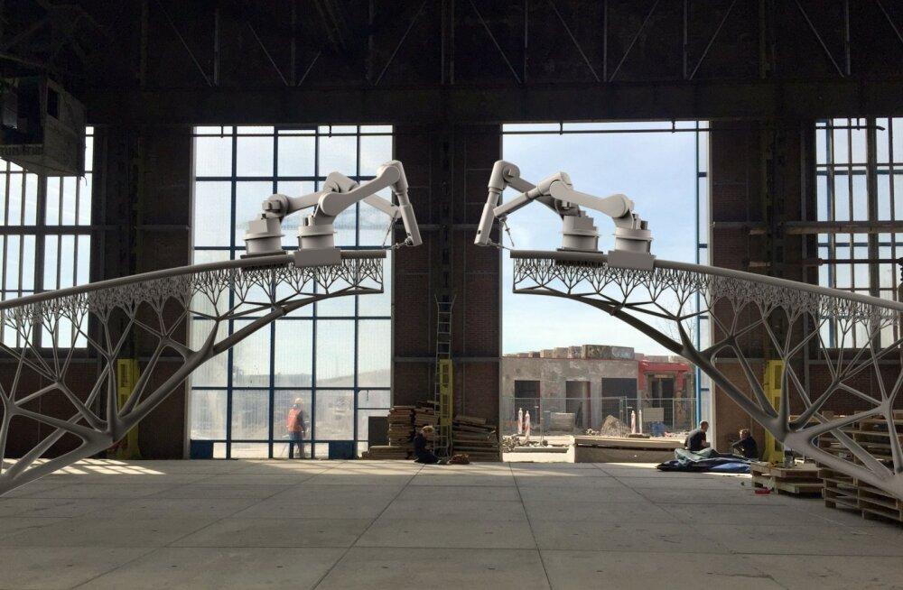 Amsterdami kerkib võimas 3D-prinditud sild
