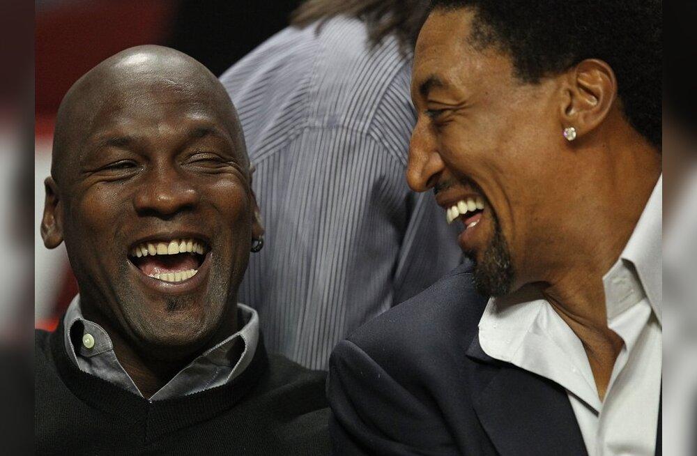 FOTOD: NBA legendid Jordan ja Pippen meenutasid vanu aegu