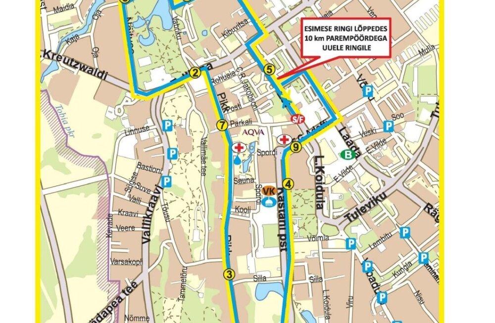 Laupäev toob Rakveresse ajutisi liikluspiiranguid
