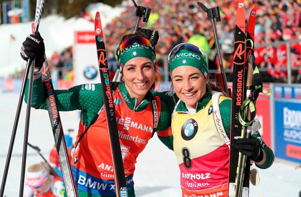 Lisa Vittozzi ja Dorothea Wierer