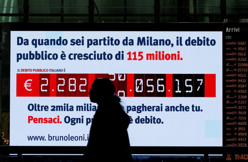 Rahauputus ajab võlaintressid alla. Isegi meeletu võlakoorma all ägava Itaalia valitsus sai tasuta laenu