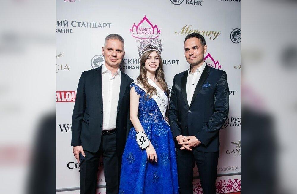 Miss Russia 2019 Alina Sanko ning Marc & André omanikud Mart Sillaots ja Andrei Lagunov.