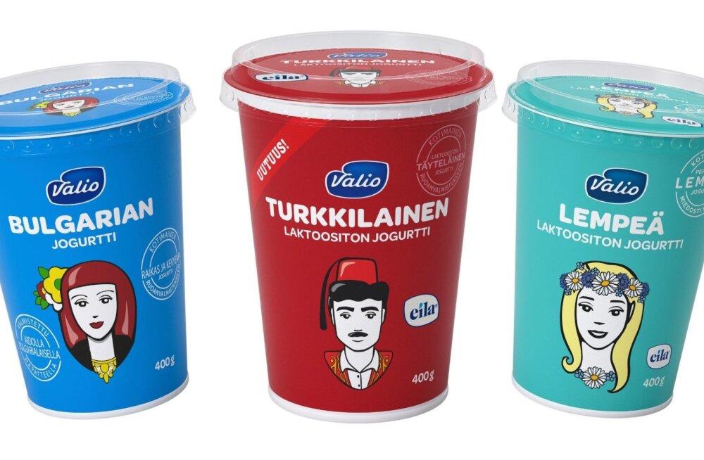 Valio jogurtid. Türgi jogurt on keskel.