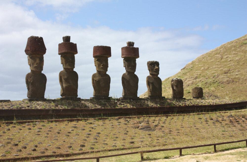 """Ученые выяснили, откуда взялись каменные """"шляпы"""" у истуканов острова Пасхи"""