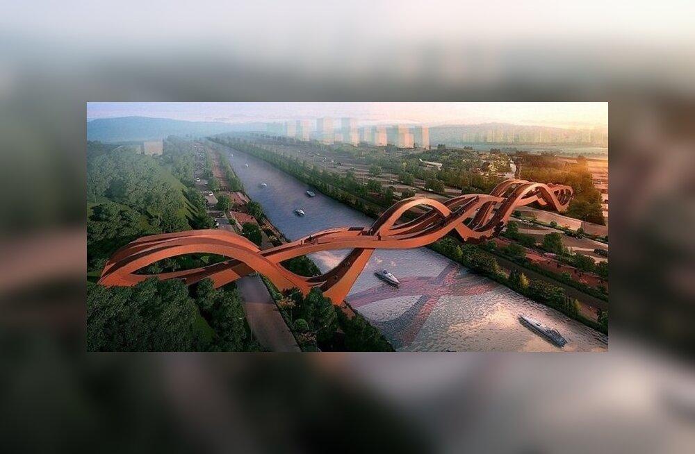 В Китае построили грандиозный мост в виде ленты Мебиуса