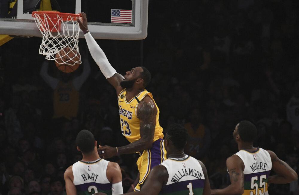 VIDEO | Bucks jõudis esimesena 50 võiduni, LeBron James tassis Lakersit