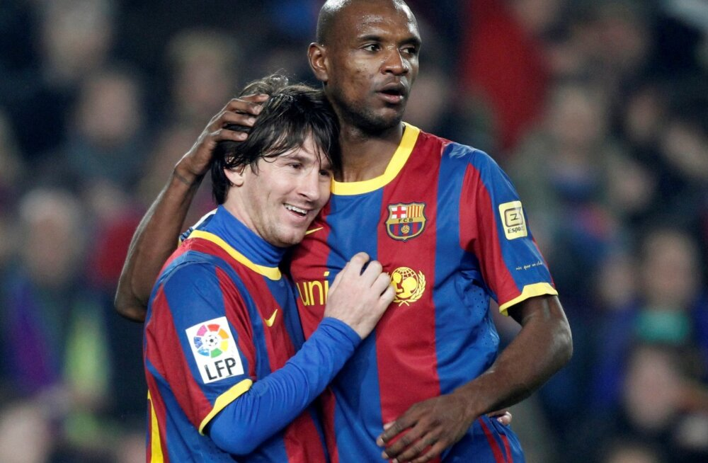 Lionel Messi ja Eric Abidali läbisaamine ei ole praegu just kõige parem.