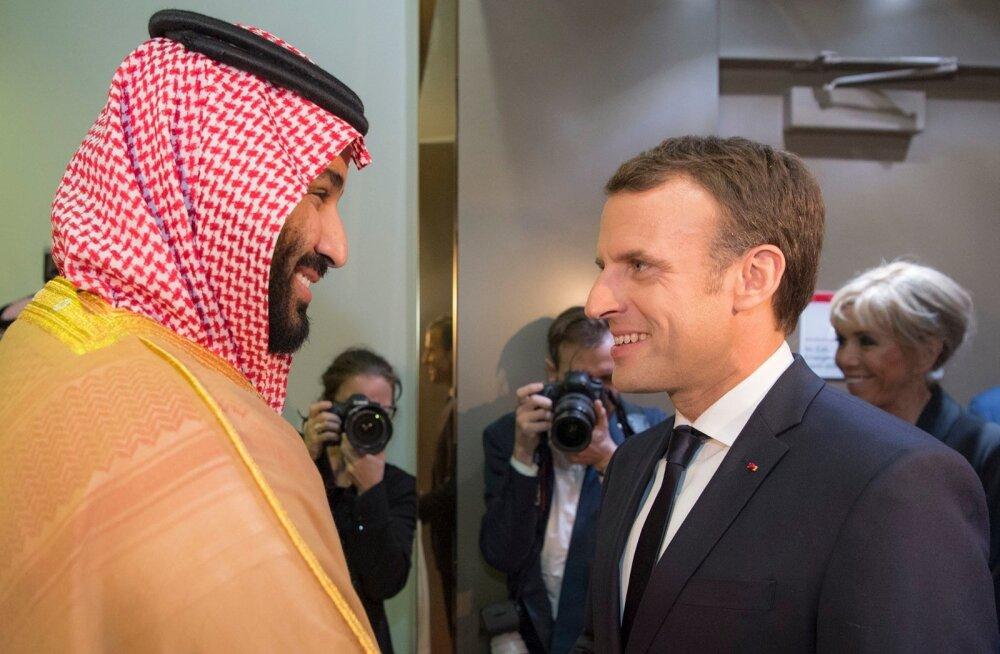 Macron kiirustas Saudi Araabiasse regiooni stabiilsust arutama